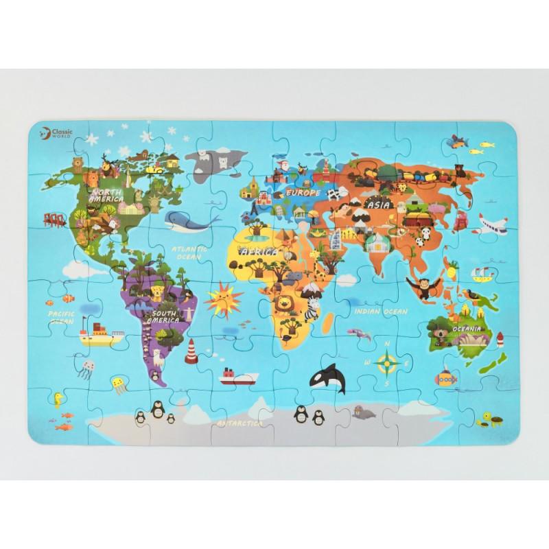 Mapa sveta - puzle